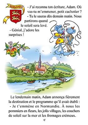 Page d'un livre sur la Normandie