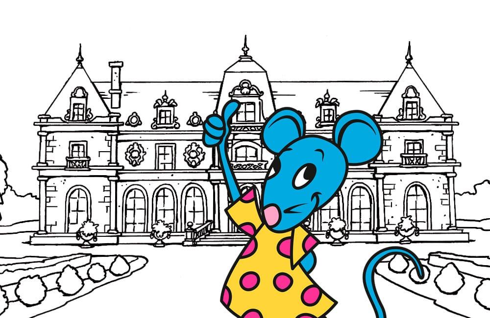 Coloriage d'un château